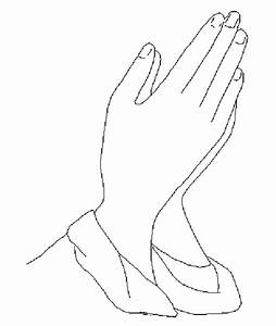 black and white praying hands clipart - Jaxstorm.realverse.us
