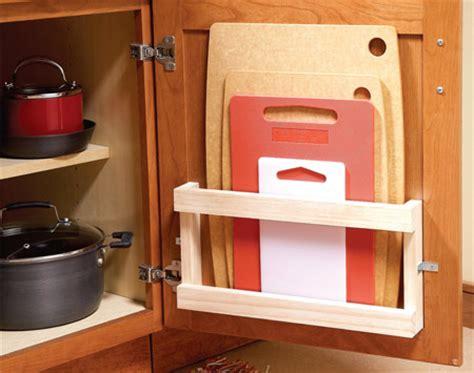 creative ideas  organize cutting board storage shelterness