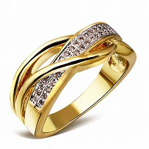 2 tone plating wedding ring fine jewelry 2014 fashion With jewelry wedding rings