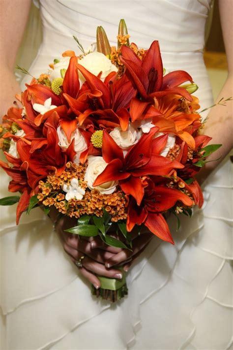 burnt orange wedding bouquets brides fall bouquet