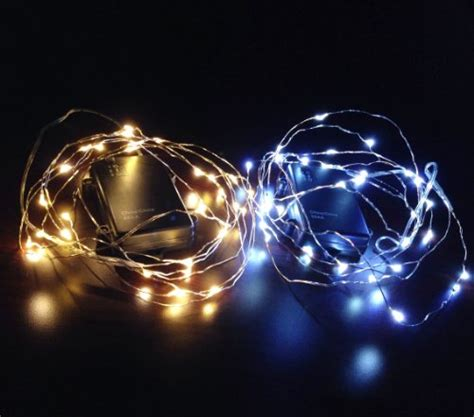 battery operated christmas lights w timer 10ft battery powered 30 leds fairy led string lights