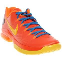 KD V Elite Mens Team Orange/True Yellow/Photo Blue Low Top Sneakers