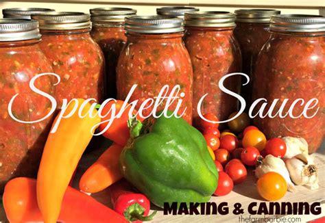 canning homemade spaghetti sauce farm fresh  life