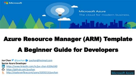 azure resource manager template azure resource manager arm template a beginner guide for develope