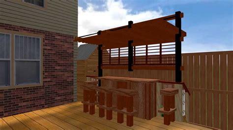 karoline zen pergola  bar  deck youtube