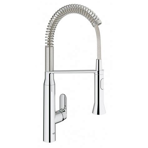 kitchen faucet grohe grohe k7 medium single handle pull down sprayer kitchen faucet with foot control in star light