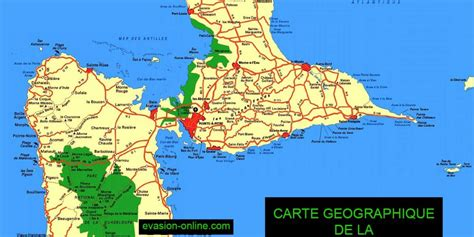Carte Geographique Du Monde Guadeloupe by Carte De Guadeloupe Ile Ouest Et Est 187 Vacances Arts