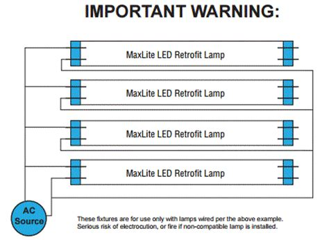Wiring Diagram For High Bay Light by Maxlite Blht8xt8use4820 75430 Ul Listed 8 L T8