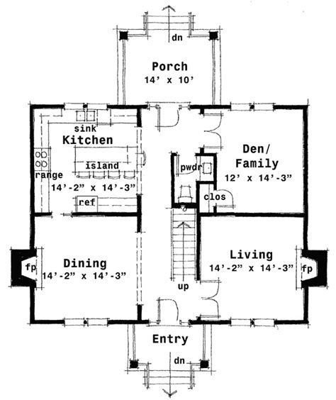 colonial style floor plans plan 44045td center colonial house plan in 2019