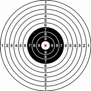 Blank Template For Sport Target Vector Shooting Competition Clean Target With Numbers For Set Shooting Range Or Pistol Shooting Large Isolated