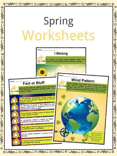 spring facts worksheets historical information  kids