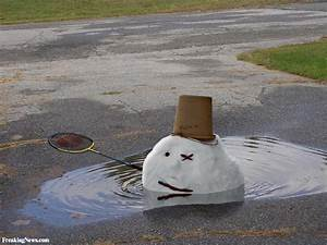 Snowman Melting Pictures - Freaking News
