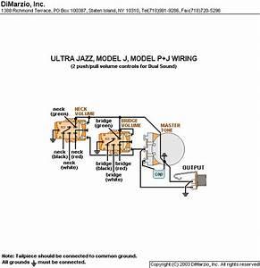 Dimarzio Ultra Jazz Wiring Diagram
