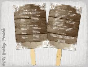 Rustic Wedding Program Templates