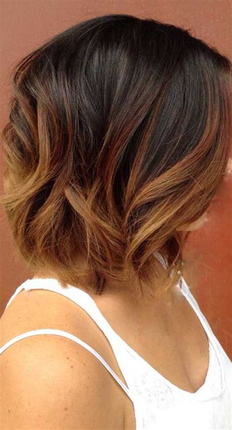 long bob ombre hair short hairstyles    popular short hairstyles