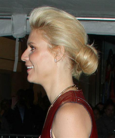 claire danes long straight golden blonde updo  light blonde highlights