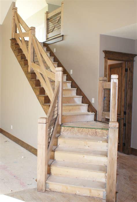 cost stair railing ideas  farmhouse stairs