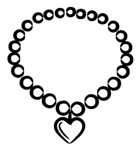 pearl necklace clipart black and white necklace clipart black and white pencil and in color