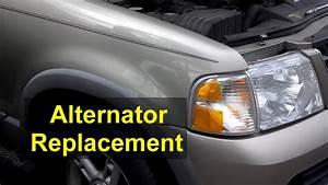 Alternator Replacement  Ford Explorer  4 0 V6 Engine