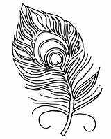 Peacock Feather Coloring Pages Feathers Drawing Template Stencil Bird Pattern Printables Sweeps4bloggers sketch template