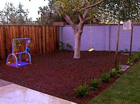 Pea Gravel Play Area In Backyard
