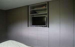 Lit Tv Intégré : cr ation d 39 une suite parentale dans l 39 ain dressing t te de lit et biblioth que ~ Teatrodelosmanantiales.com Idées de Décoration