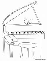 Coloring Piano Pages Music Sheets Bestcoloringpages Drawings sketch template