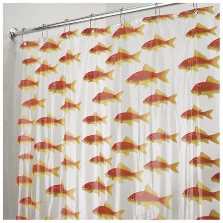 Goldfish Shower Curtain - interdesign goldfish shower curtain walmart