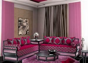 Salon Gris Et Rose : salon marocain rose rose indien gris ~ Preciouscoupons.com Idées de Décoration