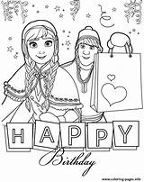 Coloring Birthday Happy Frozen Disney Printable Anna Colouring Kristoff Adult Husband Sheets Ausmalen Elsa Banner Colorear Dibujos Google Malvorlagen Ausdrucken sketch template