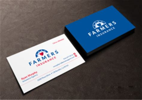 See more of farmers insurance on facebook. 81 Masculine Business Card Designs | Insurance Business Card Design Project for a Business in ...