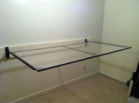 how to make a wall mounted desk creative diy wall mounted folding glass workbench table in