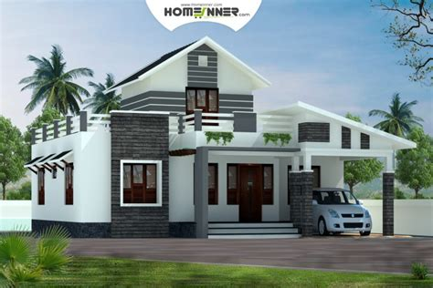 Home Design 1 Bhk : Low Cost Kerala Home Design 1379 Sq Ft 2 Bhk House Plan