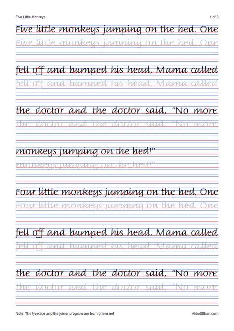 italic handwriting   monkeys italic