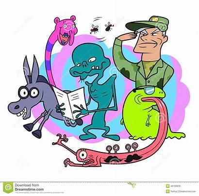 Cartoon Characters Random Funny Creatures Bizarre