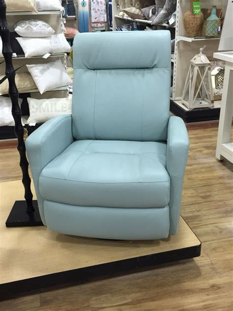 home goods leather recliner  light blue sofa