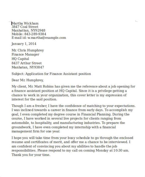 financial planning assistant cover letter 24 free finance resume templates pdf doc free