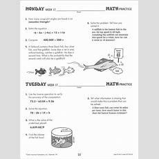 Use It! Dont Lose It! Daily Math Practice Grade 7 (039052) Details  Rainbow Resource Center, Inc