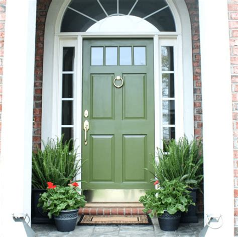 Exterior Colors  Green Front Door Ideas  Craftivity Designs