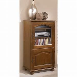 Meuble Hifi But : meuble rack hifi chene rustique dessus relevable 2 portes ~ Teatrodelosmanantiales.com Idées de Décoration