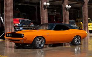 Dodge Challenger muscle cars hot rod custom orange