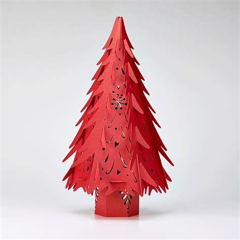 small red christmas tree h36cm hanging lantern company