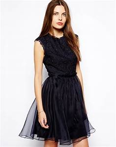 Top Occasion : ted baker occasion dress with lace top and full skirt in blue navy lyst ~ Gottalentnigeria.com Avis de Voitures