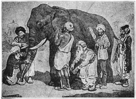 elephant    blind men   information