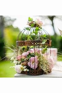 Oiseaux Decoration Exterieur : cage oiseaux en m tal vieilli voli re de d coration d co mariage ambiance ext rieur ~ Melissatoandfro.com Idées de Décoration