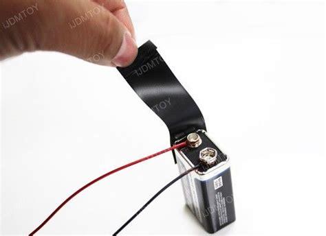 make your own led light bulb tester from 9v battery