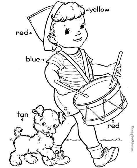 color worksheets for preschool az coloring pages