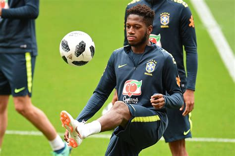 Manchester United Target Fred Trains At Anfield With