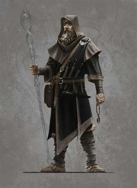 Concept Art Of Male Mage Robes From The Elder Scrolls V