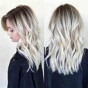 Ombre Hair Blond Polaire : balayage blond polaire cheveux court ~ Nature-et-papiers.com Idées de Décoration
